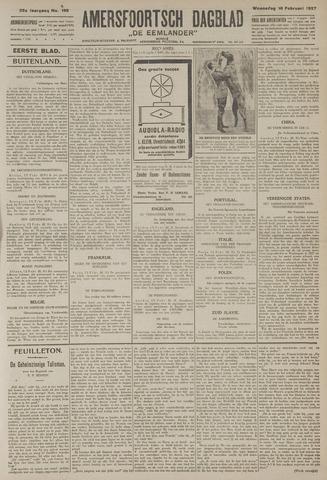 Amersfoortsch Dagblad / De Eemlander 1927-02-16