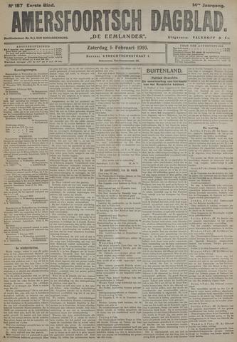 Amersfoortsch Dagblad / De Eemlander 1916-02-05