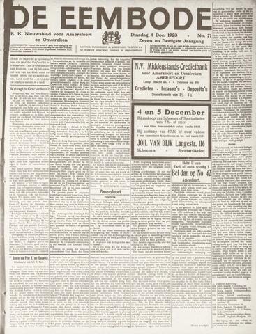 De Eembode 1923-12-04