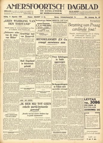 Amersfoortsch Dagblad / De Eemlander 1939-08-11