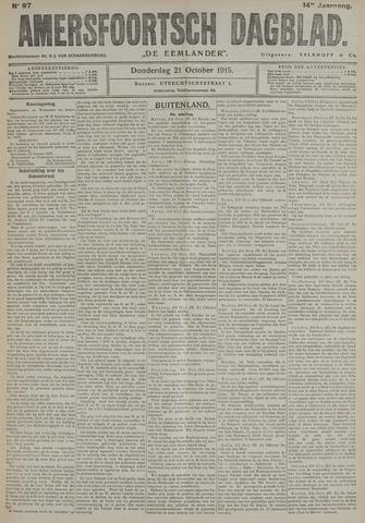 Amersfoortsch Dagblad / De Eemlander 1915-10-21