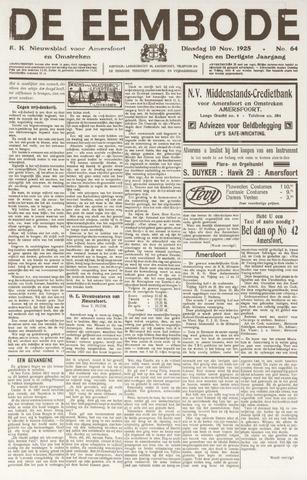 De Eembode 1925-11-10
