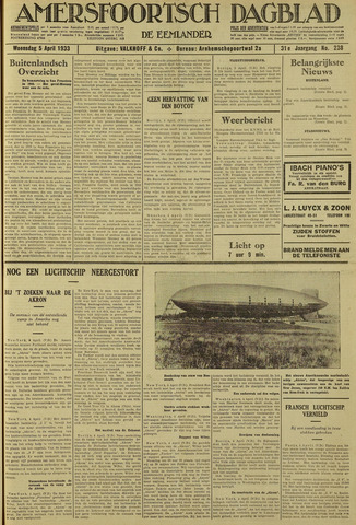 Amersfoortsch Dagblad / De Eemlander 1933-04-05