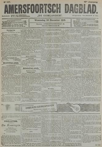 Amersfoortsch Dagblad / De Eemlander 1916-12-20