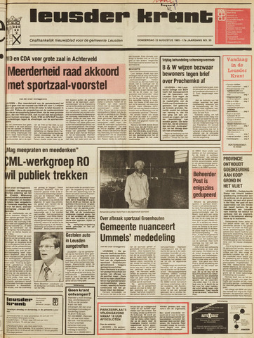 Leusder Krant 1985-08-22