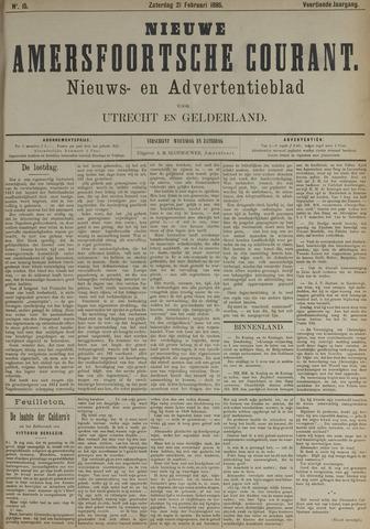 Nieuwe Amersfoortsche Courant 1885-02-21