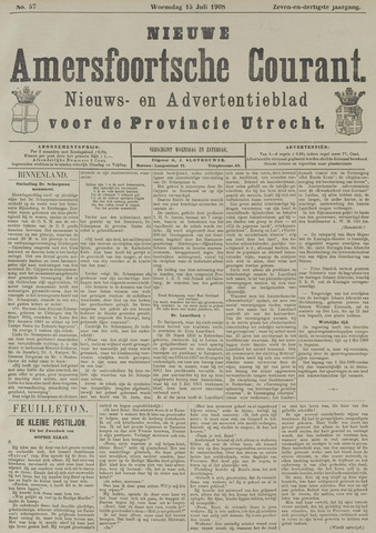 Nieuwe Amersfoortsche Courant 1908-07-15