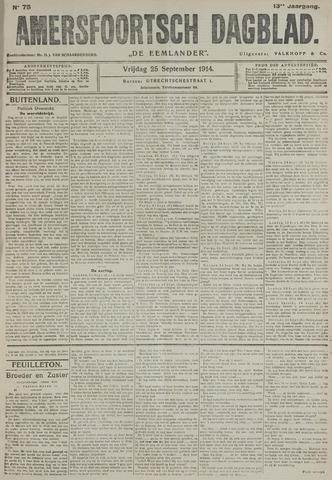 Amersfoortsch Dagblad / De Eemlander 1914-09-25