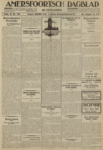 Amersfoortsch Dagblad / De Eemlander 1932-05-20