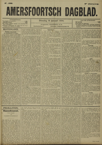 Amersfoortsch Dagblad 1904-01-19