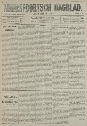Amersfoortsch Dagblad / De Eemlander 1915-02-22