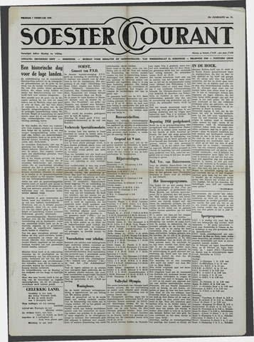 Soester Courant 1958-02-07