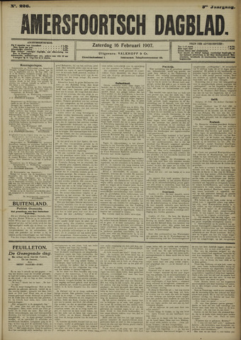 Amersfoortsch Dagblad 1907-02-16
