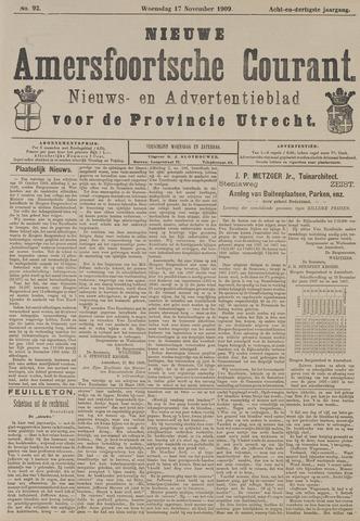 Nieuwe Amersfoortsche Courant 1909-11-17