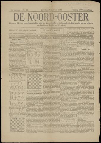 Nieuws- en Advertentieblad, De Noord-Ooster nl 1916-02-26