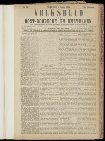 (Volksblad) Oost-Goorecht en Omstreken nl 1892-10-05