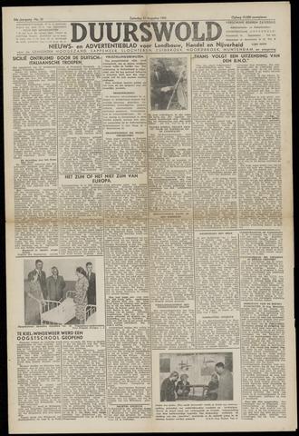 Nieuws- en Advertentieblad, Duurswold nl 1943-08-21