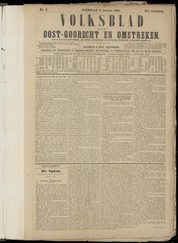 (Volksblad) Oost-Goorecht en Omstreken nl 1892-01-06