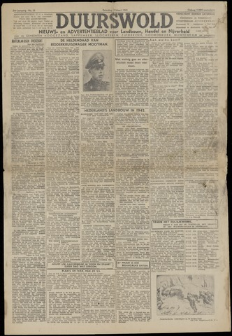 Nieuws- en Advertentieblad, Duurswold nl 1943-03-13