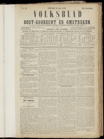 (Volksblad) Oost-Goorecht en Omstreken nl 1892-06-12