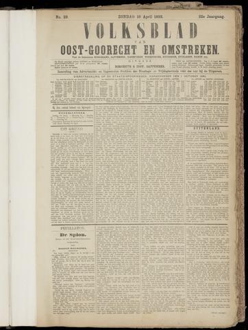 (Volksblad) Oost-Goorecht en Omstreken nl 1892-04-10