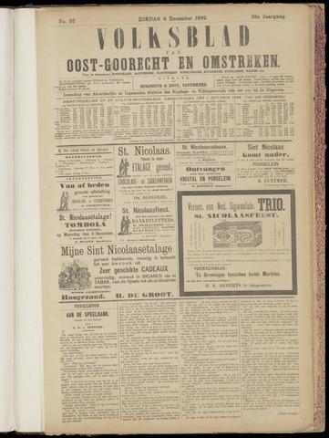 (Volksblad) Oost-Goorecht en Omstreken nl 1892-12-04