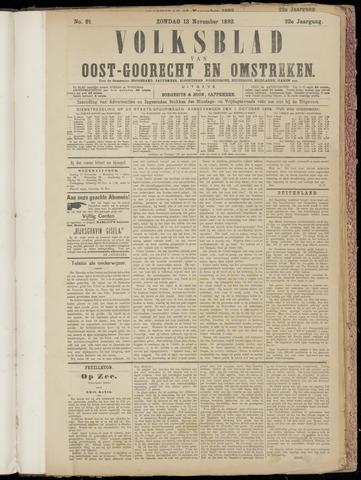 (Volksblad) Oost-Goorecht en Omstreken nl 1892-11-13