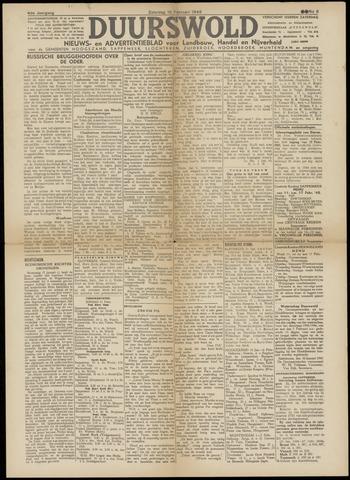 Nieuws- en Advertentieblad, Duurswold nl 1945-02-10