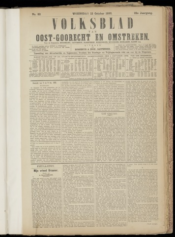 (Volksblad) Oost-Goorecht en Omstreken nl 1892-10-12