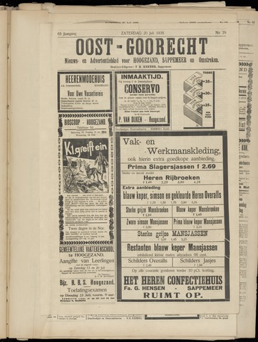 (Volksblad) Oost-Goorecht en Omstreken nl 1935-07-20
