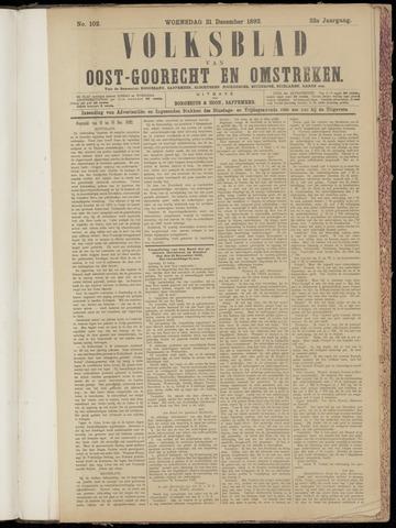(Volksblad) Oost-Goorecht en Omstreken nl 1892-12-21