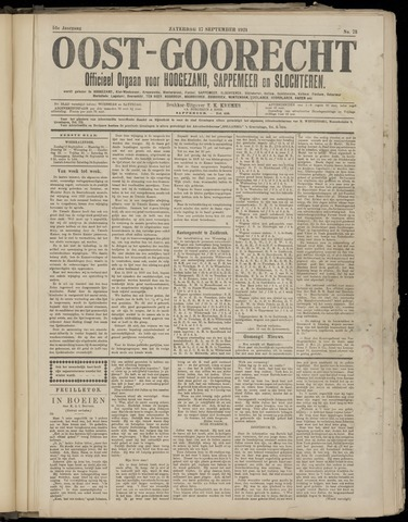 (Volksblad) Oost-Goorecht en Omstreken nl 1921-09-17