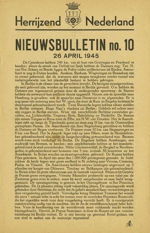 Nieuwsbulletin gemeente Hoogezand nl 1945-04-26