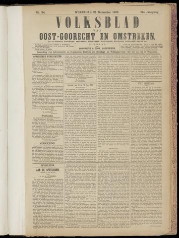 (Volksblad) Oost-Goorecht en Omstreken nl 1892-11-23