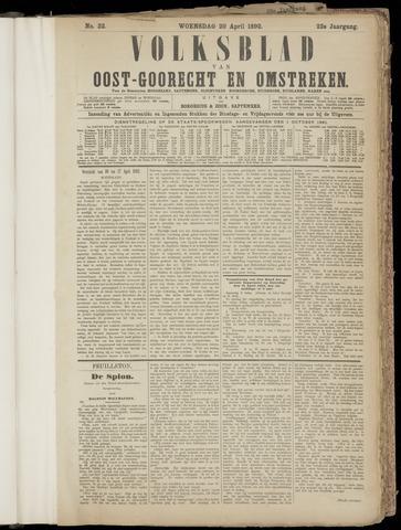 (Volksblad) Oost-Goorecht en Omstreken nl 1892-04-20