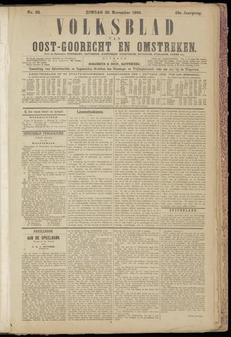 (Volksblad) Oost-Goorecht en Omstreken nl 1892-11-20
