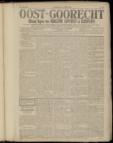 (Volksblad) Oost-Goorecht en Omstreken nl 1921-04-16