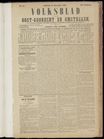(Volksblad) Oost-Goorecht en Omstreken nl 1892-11-27