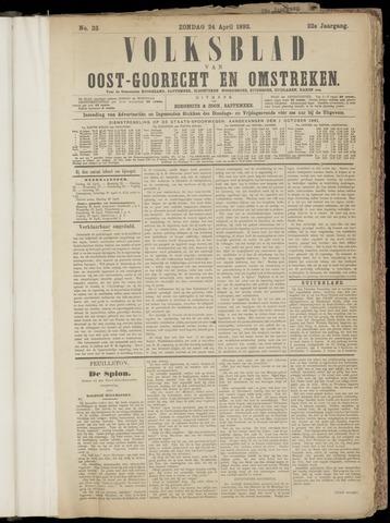 (Volksblad) Oost-Goorecht en Omstreken nl 1892-04-24
