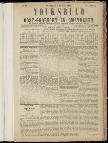 (Volksblad) Oost-Goorecht en Omstreken nl 1892-11-09