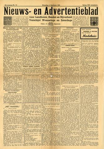 Nieuws- en Advertentieblad, Sappemeer nl 1940-09-11