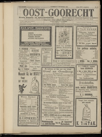 (Volksblad) Oost-Goorecht en Omstreken nl 1924-11-01