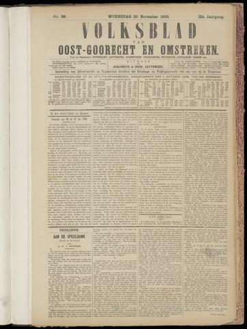 (Volksblad) Oost-Goorecht en Omstreken nl 1892-11-30