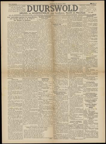 Nieuws- en Advertentieblad, Duurswold nl 1945-01-13