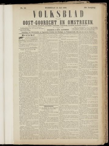 (Volksblad) Oost-Goorecht en Omstreken nl 1892-07-13