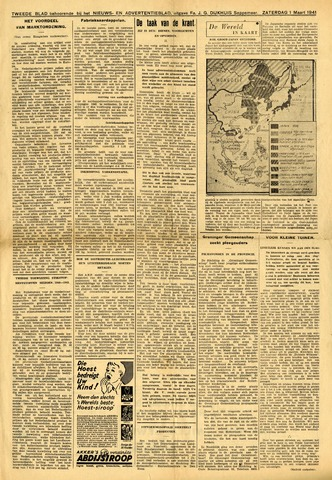 Nieuws- en Advertentieblad, Sappemeer nl 1941