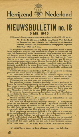 Nieuwsbulletin gemeente Hoogezand nl 1945-05-05