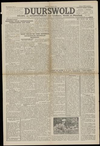 Nieuws- en Advertentieblad, Duurswold nl 1943-08-07