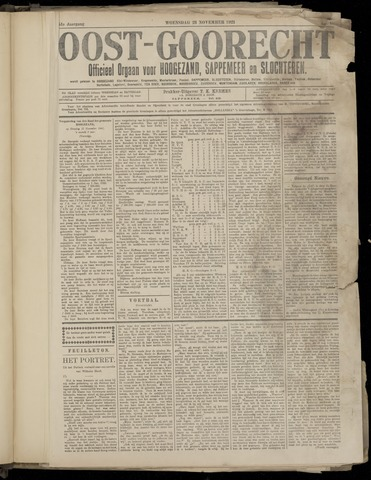 (Volksblad) Oost-Goorecht en Omstreken nl 1921-11-23