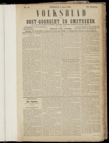 (Volksblad) Oost-Goorecht en Omstreken nl 1892-04-06